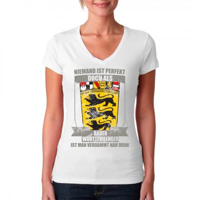 Perfekter Württemberger, T-Shirt bedruckt auf Brust oder Rücken je nach Wunsch  individuell gefertigt und mittels Direkt Druck-Verfahren aufgebracht. waschfest