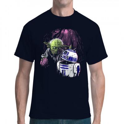 """Von wegen """"tote Jedi lösen sich in Luft auf""""... Nicht nur die Macht erwacht. Yoda ist als Untoter zurückgekehrt, und er ist hungrig auf lecker Padawan-Gehirne."""
