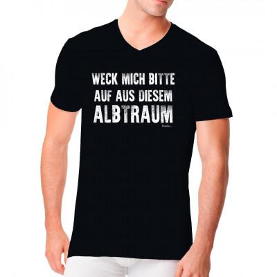 Kann das alles wirklich sein? Ist diese Gesellschaft nicht ein purer Albtraum, aus dem man hoffentlich bald erwacht?  Cooles Motiv für alle Fans Deutschen Hip Hops.