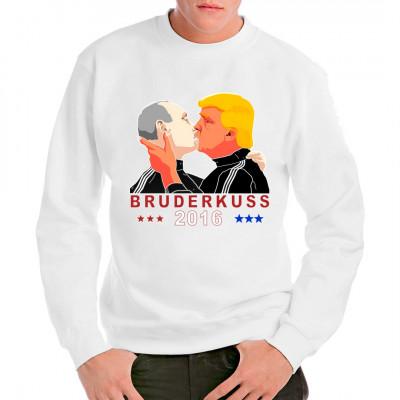 Der Bruderkuss 2016 zwischen dem neuen POTUS und dem russische Präsidenten Wladimir Putin als Motiv für dein T-Shirt, Sweatshirt oder V-Neck.