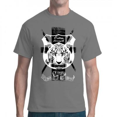 Cooles Design Shirt für alle Tiger Fans.   Mittels Digital-Direktdruck aufgebracht. waschfest