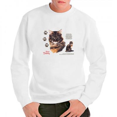 T-Shirt - Motiv: Brown Tabby Rassekatze