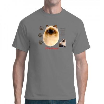 T-Shirt - Motiv: Himalayan Rassekatze. Tolles Shirt Motiv für Katzenbesitzer