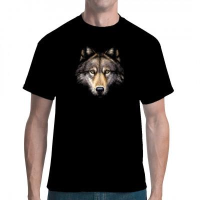T-Shirt-Motiv : Wolf Head Stylicher Wolfskopf für dein T-Shirt. Vorsicht, hier wird's wild!