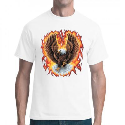 Flammender Adler, Tiere & Natur, Biker, Adler, Tiere & Natur