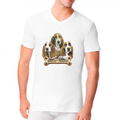 Hunde T-Shirt: Basset Hound Welpen, Tiere & Natur, Hunde, Hunde