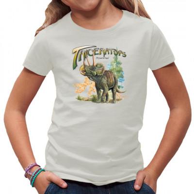 Gegen diesen massigen Dinosaurier wirkt ein Stier regelrecht harmlos. Triceratops gehört wohl zu den bekanntesten Dinos der Kreidezeit, vor allem durch die häufige Darstellung eines Todeskampfes zwischen ihm und einem Tyrannosaurus.
