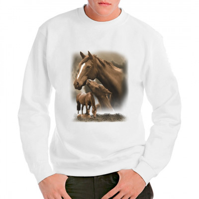 Tolles Shirt-Motiv für Pferdenarren und Tierfreunde: 2 Pferde auf einem T-Shirt, und diese 2 auch noch doppelt!