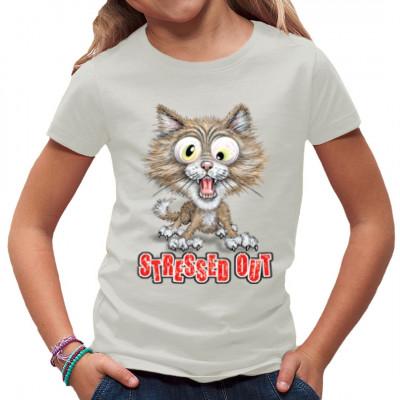 Fun Shirt: Stressed Out Kitty, Comics, Lustig & Fun, Katzen, Sprüche Fun Witzig