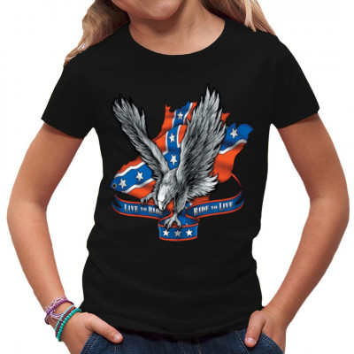 Southern Flag Eagle, X - XXL Motive, Männer & Frauen, Biker, Adler