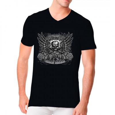 Skull Bike Ralley, Tattoo Style, Männer & Frauen, Totenköpfe & Gothic, Biker, Totenköpfe, Biker