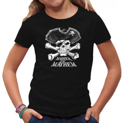 Dieses Skelett ist nicht nur ein Pirat, auch nicht einfach nur ein Kapitän. Dieser Totenschädel gehört dem Master of Mayhem, dem zerstörerischsten Piratenkapitän der sieben Weltmeere. Hol dir sein Shirt, bevor er auch dein Haus entert!