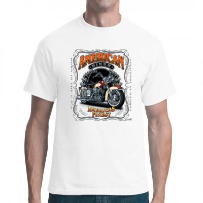 T-Shirt Motiv: Americas finest Motorcycle   Cooles Chopper- Motiv. Für alle die die besten amerikanischen Chopper fahren.