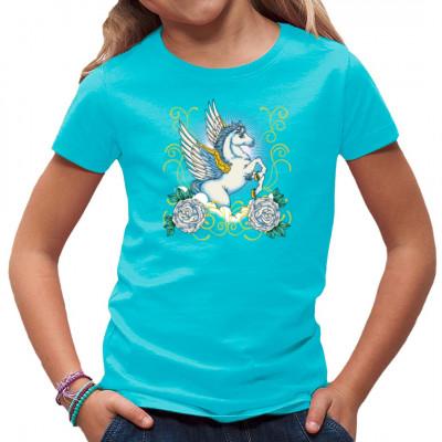 Fantasy - Motiv im Tattoo-Stil: Pegasus Ihr müsst kein griechischer Held sein, um euch an diesem fliegenden Pferd erfreuen zu können.  Motivgröße: 9x8 Zoll