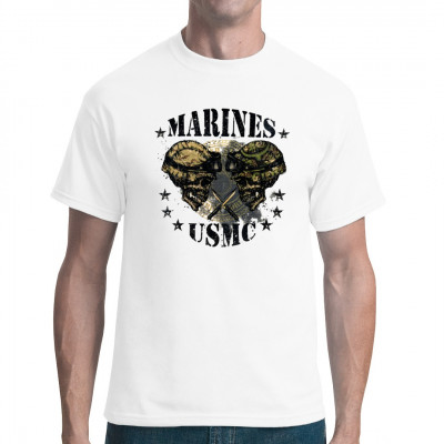 Marines USMC, Totenköpfe & Gothic, Army/Marine, Army/Military