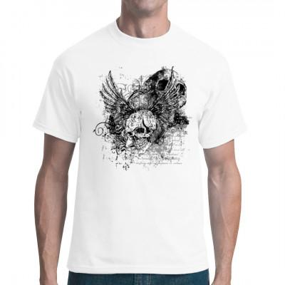Motiv: Geflügelter Totenkopf Skull, Gothic  Cooles Gothic Motiv ein geflügelter Totenschädel im wasted Look.
