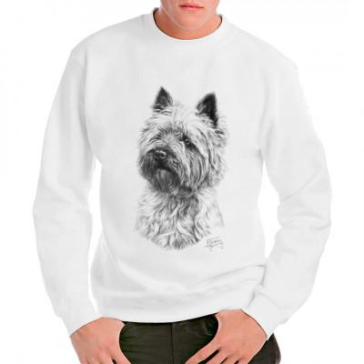 Der Cairn Terrier ist eine der ältesten anerkannten schottischen Hunderassen. Dieser kleine, drahtige Jagdhund ist mit seinem freundlichen, tempramentvollen Wesen ein idealer Familienhund. Tolles Motiv für alle Hundefreunde.