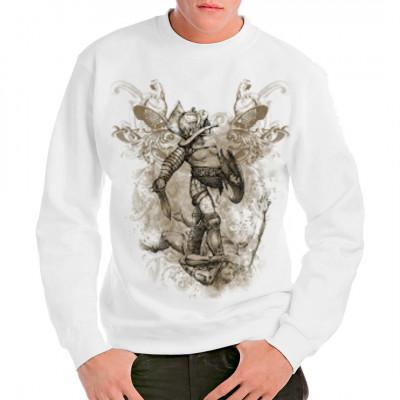 Extrem großes Gladiatoren-Motiv Morituri te salutant!  Dieses Shirt ist zu schade, um es in der Arena zu tragen. Blut wäscht sich immer so schlecht heraus.