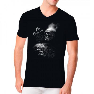 For Evermore - Skulls , Sale 20%, Tattoo Style, Männer & Frauen, Totenköpfe & Gothic, Totenköpfe, Biker