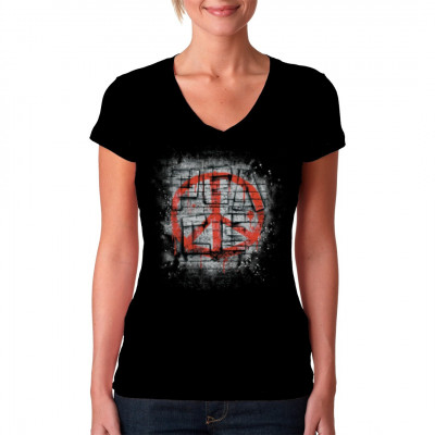 Peace Shirt  Motiv mit dem Peacezeichen  Motivgröße: 42 x 33 cm