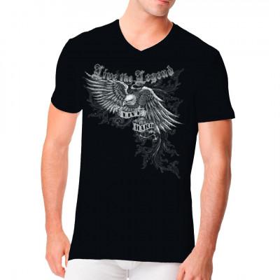 Biker T-Shirt mit Adler