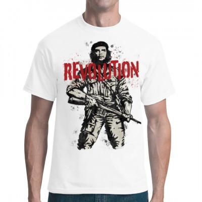 Der legendäre Anführer der Kubanischen Revolution, Che Guevara, mit einem Gewehr als Motiv für Dein Shirt.