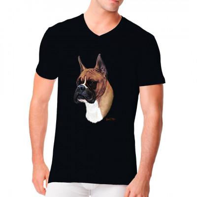 T-Shirt - Motiv : Boxer, Sonstige, Tiere & Natur, Männer & Frauen, Hunde, Hunde