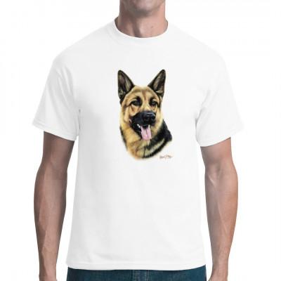 T-Shirt Motiv: Deutscher Schäferhund, Tiere & Natur, Hunde, Hunde