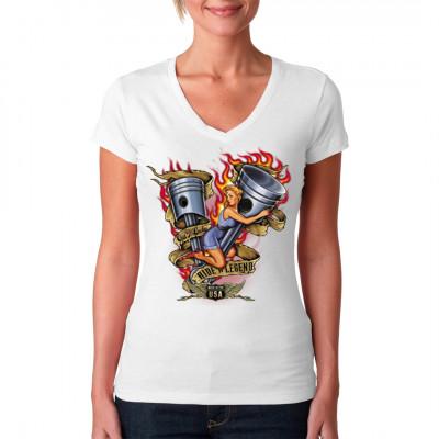 Heißes Biker - Motiv für dein Shirt.