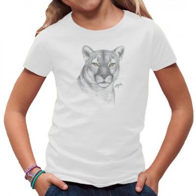 T-Shirt-Motiv : Gray Puma Head  Mittels Transfer Siebdruckverfahren aufgebracht. waschfest