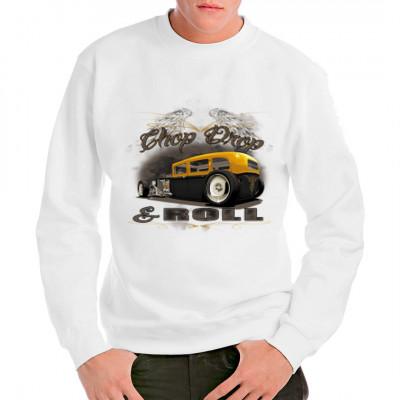 HOT ROD Shirt - chop drop roll  Cooles Hot Rod Motiv. Schwarz, gelber Klassiker. Perfekt für alle die auf getunte Oldtimer stehen.