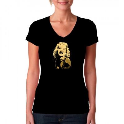 Pin-Up: Marilyn Monroe smiling (Goldfolie), MOTIVE P - Z, Männer & Frauen, Ladys, Pin Ups, Fashion / Mode, Musik & Film, Pin Ups, Marilyn Monroe