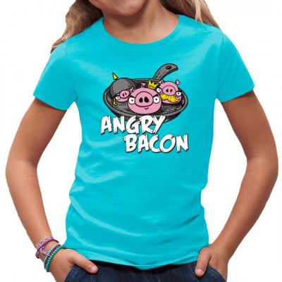 Fun Shirt Motiv: Angry Bacon