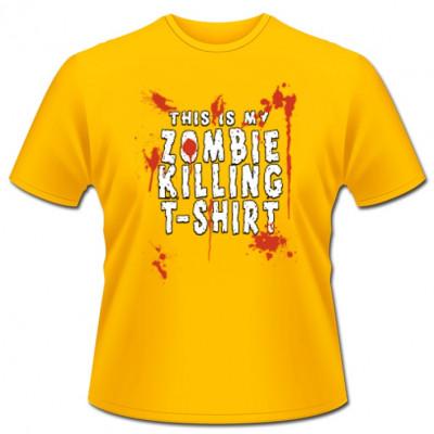 This is my Zombie Killing T-Shirt! Cooles Fun-Shirt, damit bei der Zombie Invasion nichts mehr schief gehen kann. Auch für Gamer  bestens geeignet.