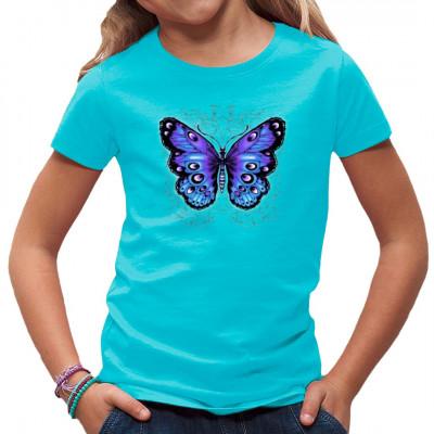 T-Shirt - Motiv: Schmetterling  Ein hübscher blauer und purpurner Schmetterling für euer T-Shirt, passend zu euren Tattoos.