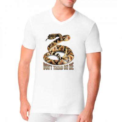 Motiv: Rattlesnake - Don't tread on me!  Cooles Klapperschlangen Motiv und der Schriftzug: Tritt nicht auf mich!