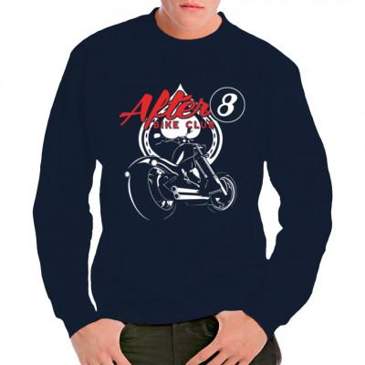 T-Shirt - Motiv: After 8 Bike Club Cooles Bikermotiv mit den Symbolen für Pik, die 8er Billardkugel und einem heißen Ofen