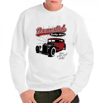 Cooles Hot Rod - Motiv für alle Oldtimer-Fans  So ein klassischer Wagen muss gepflegt werden: wachst ihn täglich, und er sieht länger scharf aus.