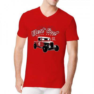 Cooles T-Shirt - Motiv für Hot Rod - Fans. Wenn ihr auf aufgemotzte amerikanische Oldtimer steht oder selbst Schrauber seid, dann ist dieses Schirt genau das Richtige für euch.