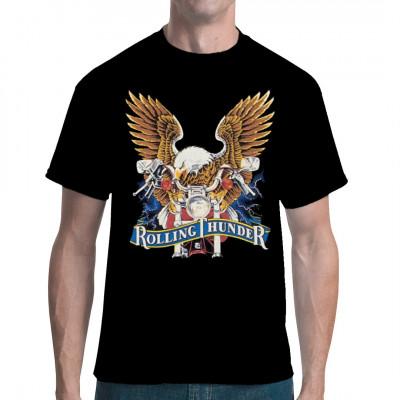 Rolling Thunder Eagle, X - XXL Motive, Männer & Frauen, Biker, Biker, Adler