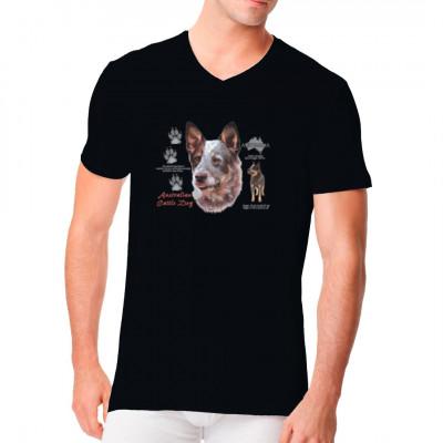 T-Shirt: Australian Cattle Dog, Heeler, Treibhund, MOTIVE P - Z, Tiere, Tiere & Natur, Hunde, Hunde