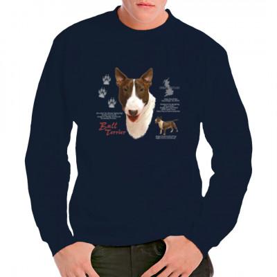 Sweatshirt Bull Terrier Hund, Tiere & Natur, Hunde, Hunde
