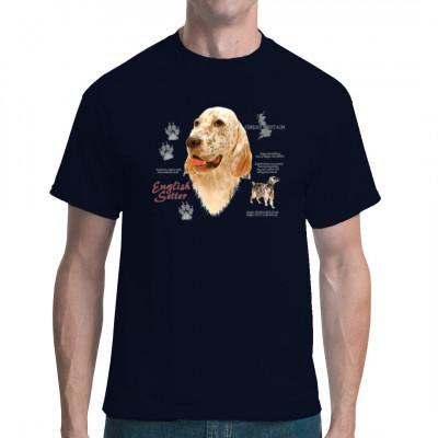 T-Shirt Englischer Setter, English Setter, Hunderasse, MOTIVE P - Z, Tiere, Tiere & Natur, Hunde, Hunde