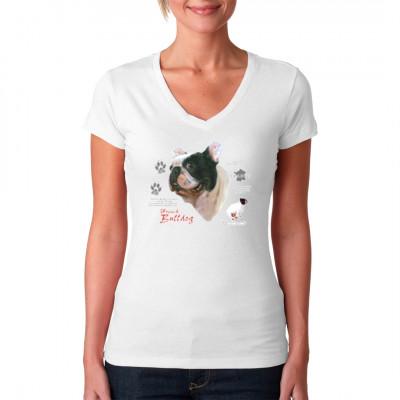 T-Shirt: Französische Bulldogge, MOTIVE P - Z, Tiere, Tiere & Natur, Hunde, Hunde