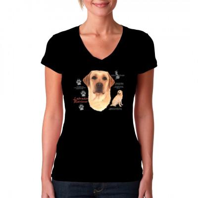 T-Shirt Labrador Retriever Hund, MOTIVE P - Z, Tiere, Tiere & Natur, Hunde, Hunde