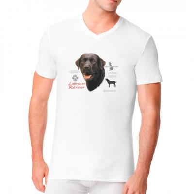 T-Shirt: Schwarzer Labrador Retriever Hund, MOTIVE P - Z, Tiere, Tiere & Natur, Hunde, Hunde