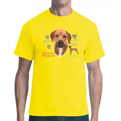 T-Shirt Rhodesian Ridgeback, MOTIVE P - Z, Tiere, Tiere & Natur, Hunde, Hunde