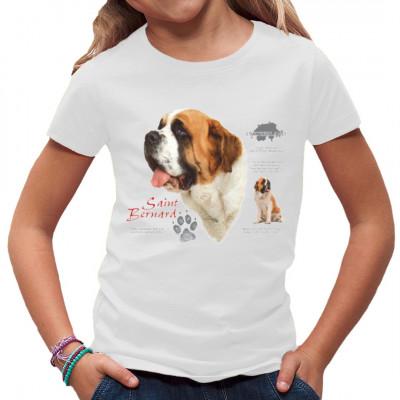 Ein toller Saint Bernard als Druck für Dein T-Shirt, leider ohne das obligatorische Fässchen Rum.  Klasse Motiv für Hundefans.  Motivgröße: 12x13 Zoll