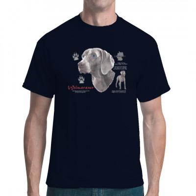 Hunde Shirt: Weimaraner, MOTIVE P - Z, Tiere, Tiere & Natur, Hunde, Hunde