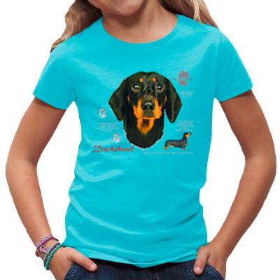 T-Shirt Dackel Kurzhaar Schwarz Hund, Tiere & Natur, Hunde, Hunde
